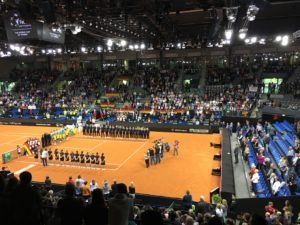 Fed-Cup-Tennisplatz